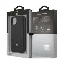 Mercedes Leather Urban - Etui iPhone 13 (czarny)