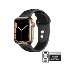 Crong Duo Sport - Pasek do Apple Watch 38/40/41 mm (szary/czarny)