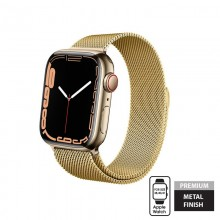 Crong Milano Steel - Pasek ze stali nierdzewnej do Apple Watch 38/40/41 mm (złoty)