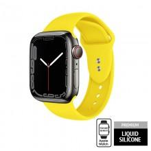 Crong Liquid - Pasek do Apple Watch 38/40/41 mm (żółty)