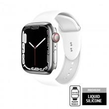 Crong Liquid - Pasek do Apple Watch 42/44/45 mm (biały)