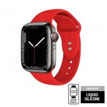 Crong Liquid - Pasek do Apple Watch 38/40/41 mm (czerwony)