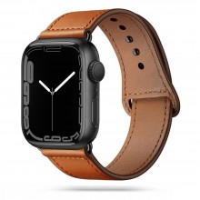 TECH-PROTECT LEATHERFIT APPLE WATCH 4 / 5 / 6 / 7 / SE (42 / 44 / 45 MM) BROWN
