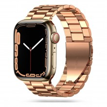 TECH-PROTECT STAINLESS APPLE WATCH 4 / 5 / 6 / 7 / SE (42 / 44 / 45 MM) ROSE GOLD