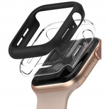 RINGKE SLIM 2-PACK APPLE WATCH 4 / 5 / 6 / SE (40 MM) CLEAR & BLACK
