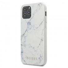 Guess Marble - Etui iPhone 12 Mini (biały)