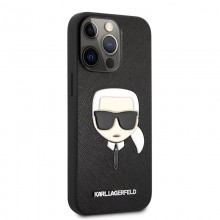 Karl Lagerfeld Saffiano Ikonik Karl`s Head - Etui iPhone 13 Pro (czarny)