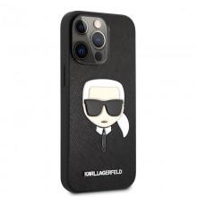 Karl Lagerfeld Saffiano Ikonik Karl`s Head - Etui iPhone 13 Pro Max (czarny)