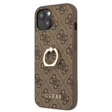Guess 4G Ring Case - Etui iPhone 13 mini (brązowy)