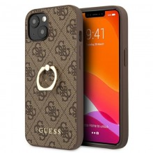 Guess 4G Ring Case - Etui iPhone 13 (brązowy)