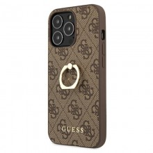 Guess 4G Ring Case - Etui iPhone 13 Pro (brązowy)
