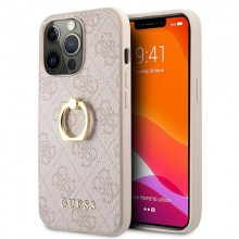 Guess 4G Ring Case - Etui iPhone 13 Pro (różowy)