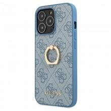 Guess 4G Ring Case - Etui iPhone 13 Pro Max (niebieski)