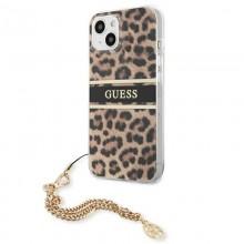 Guess Leopard Gold Chain - Etui iPhone 13