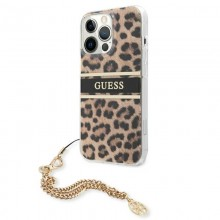 Guess Leopard Gold Chain - Etui iPhone 13 Pro