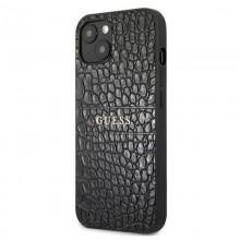 Guess Croco Stamp Lines - Etui iPhone 13 mini (czarny)