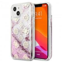 Guess Peony Liquid Glitter - Etui iPhone 13 mini (różowy)
