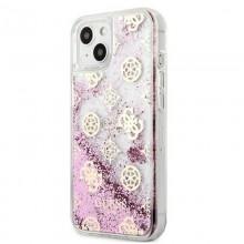 Guess Peony Liquid Glitter - Etui iPhone 13 (różowy)