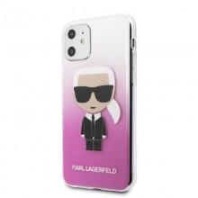 Karl Lagerfeld Iconic Karl Gradient - Etui iPhone 11 (różowy)