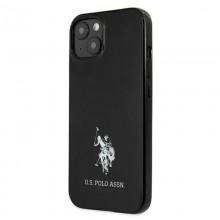 US Polo Assn Horses Logo - Etui iPhone 13 mini (czarny)