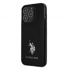 US Polo Assn Horses Logo - Etui iPhone 13 Pro Max (czarny)