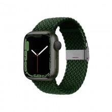 Crong Wave Band – Pleciony pasek do Apple Watch 38/40/41 mm (zielony)