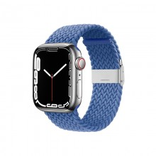Crong Wave Band – Pleciony pasek do Apple Watch 38/40/41 mm (niebieski)