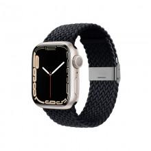 Crong Wave Band – Pleciony pasek do Apple Watch 38/40/41 mm (grafitowy)