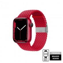 Crong Wave Band – Pleciony pasek do Apple Watch 42/44/45 mm (czerwony)