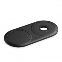 BASEUS PLANET 2IN1 WIRELESS CHARGER BLACK