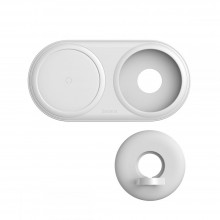 BASEUS PLANET 2IN1 WIRELESS CHARGER WHITE