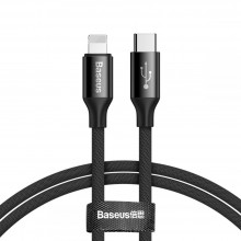 BASEUS YIVEN TYPE-C TO LIGHTNING CABLE 200CM BLACK